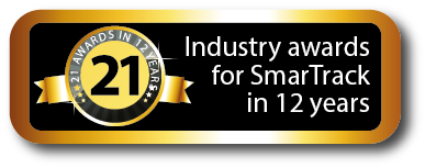 SmarTrack has received 21 industry awards in 10 years